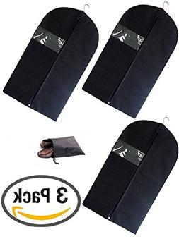 Breathable Garment Bag Covers Storage for Suit, Dress, and C