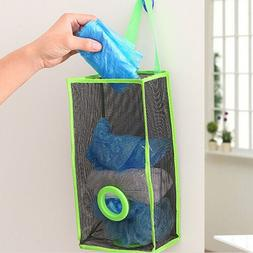 Breathable Mesh Hanging Kitchen Garbage Bags Storage Foldabl