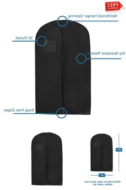 Bags for Less Non Woven Black Breathable Suit and Dress Garm