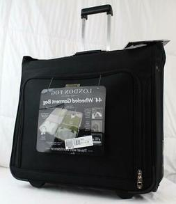 "LONDON FOG BUCKINGHAM 44"" WHEELED GARMENT BAG SUITCASE BLACK"