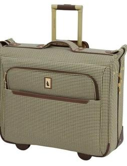 "London Fog Cambridge II 44"" Wheeled Garment Bag Olive Hounds"