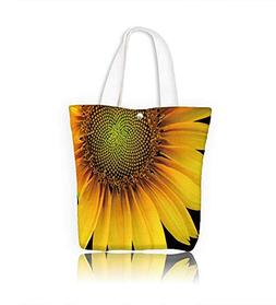 Canvas Zipper Tote Bag front intake and portion sunflower il