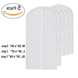 I-Choice Clear Garment Bags PEVA Hanging Clothes Cover Bags
