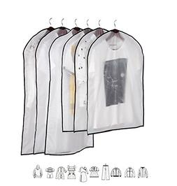 Bister Pack of 6 Clear Garment Protector Bags Suit Clothes C