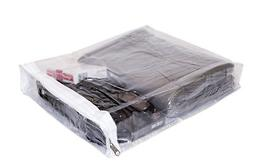 Clear Vinyl Zippered Storage Bags 9 x 11 x 2 Inch with Displ
