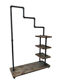 Articial Commercial Rolling Clothing Rack with Wheels,Indust