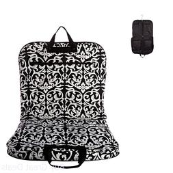 Damask Hanging Garment Bag, Black