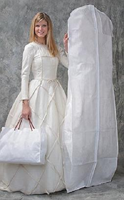 DELUXE Bridal White Wedding Gown Dress/Coat Garment Bag with