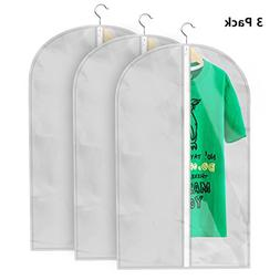 Begost 3 Pack Dustproof Garment Bags Breathable Garment Dust