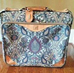 flame tapestry paisley suit garment roller bag