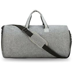 Foldable Garment Bag with Weekender Duffle-2 in 1 Suitcase S