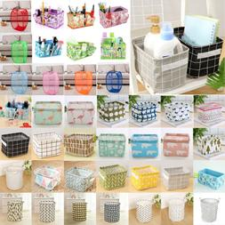 Folding Laundry Basket Bag Linen Storage Pouch Home Organize