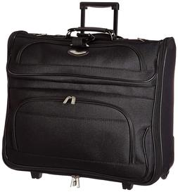 Folding Garment Bag Luggage Carry On Suitcase Travel Wheels