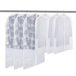"Flee 40"" 6 Pack Garment Bag for Closet Storage,Hanging Suit"