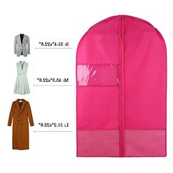Breathable Dust-Proof Garment Bag with Clear Window and 2 Me