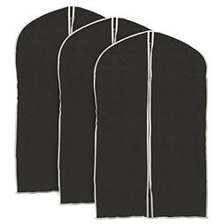 Garment Bag, EZOWare Black Foldable Breathable Garment Suit