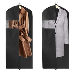2 Pack Garment Bag Suit Bag with Two Handles for Storage and