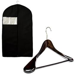 Garment Bag and Wood Suit Hanger by Clutter Mate – Breatha