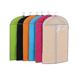 Garment Bags for Storage,Set of 6 Multiple Color Non Woven F