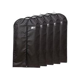 "Ezihom 42"" Garment Bags for Storage, Black Non Woven Fabric"