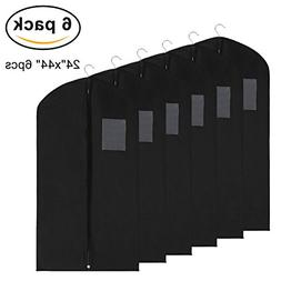 Garment Bags Black Covers for Luggage, Dresses, Linens,Gown