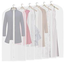 ETERNLEAF Garment Bags Clear 24'' x 54'' Suit Bags  Breathab