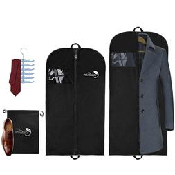 cedlize Garment Bags For Travel and Storage - Pack of 4 with