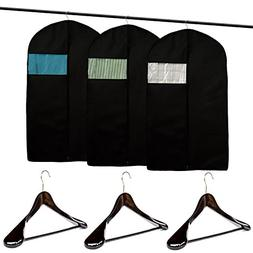 Clutter Mate  Garment Bag Covers for Suits and Wood Suit Han