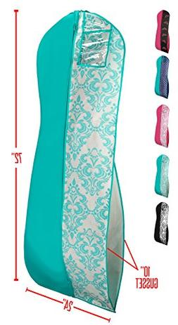 Gusseted Gown Garment Bag for Women's Prom and Bridal Wedd