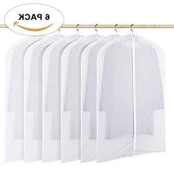 Hanging Suit Grament Bag, 40 inch Clear Moth Proof Clothes P