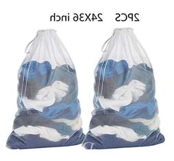 Extra Large Heavy Duty Mesh Laundry Bags Household Storage B