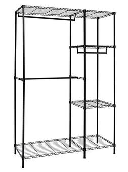 Finnhomy Heavy Duty Wire Shelving Garment Rack for Closet Or