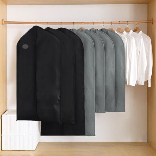 1/5/10Pc Garment Suit Bags Dress Clothes Coat Cover Breathab