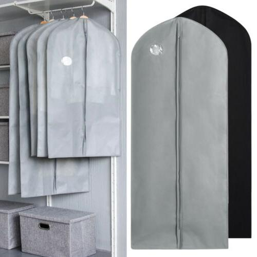 1/5 PCS Garment Bag Fabric Dust Cover for Suit Dress Clothes