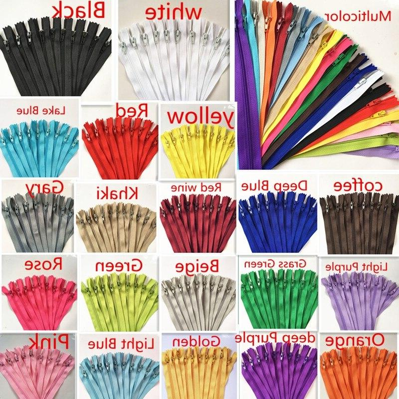 10pcs <font><b>3</b></font> inch Nylon Coil Tailor Sewing Crafts Zippers 20 Colors