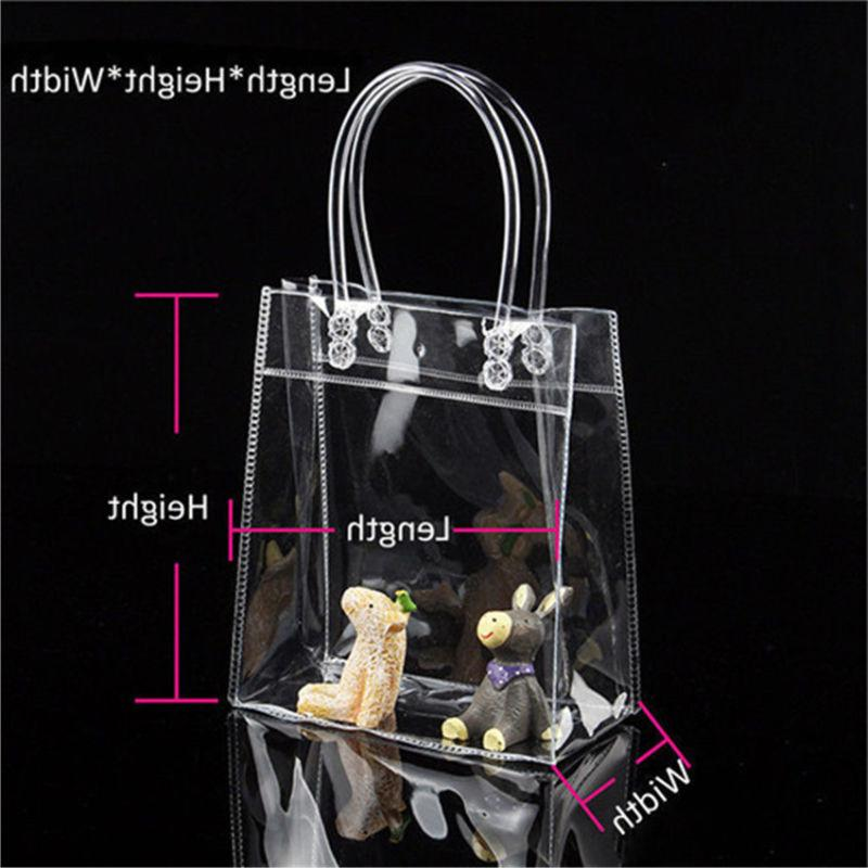 1PC Clear PVC Tote Bags Closable Bag