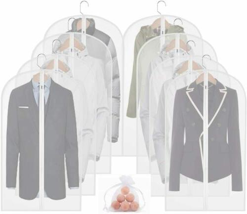 """2/5/10 Clear 40"""" Hanging Garment Clothes Storage"""