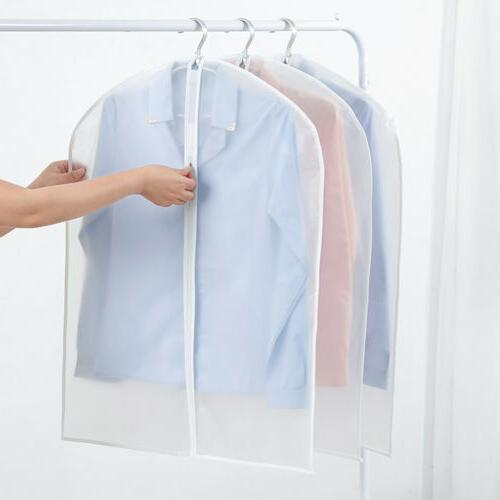 """2/5/10 Clear 40"""" Plastic Hanging Garment Bags for Clothes St"""
