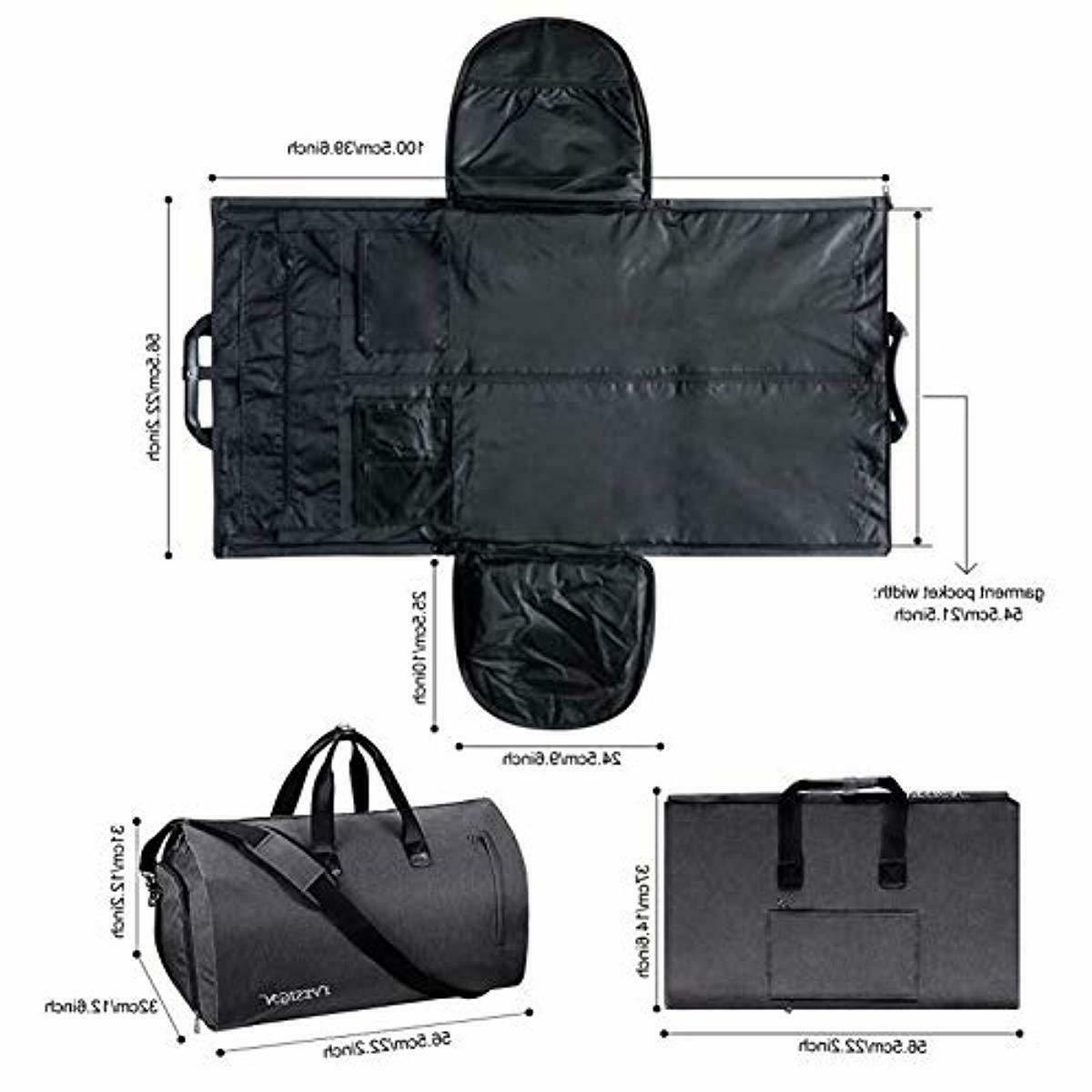 2 1 Carry-on Travel Bag Convertible Suit Duffle Bag Shoes Compartment