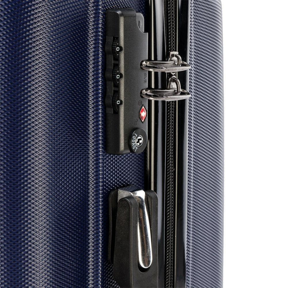 20'' Luggage Rolling Travel Capacity Blue
