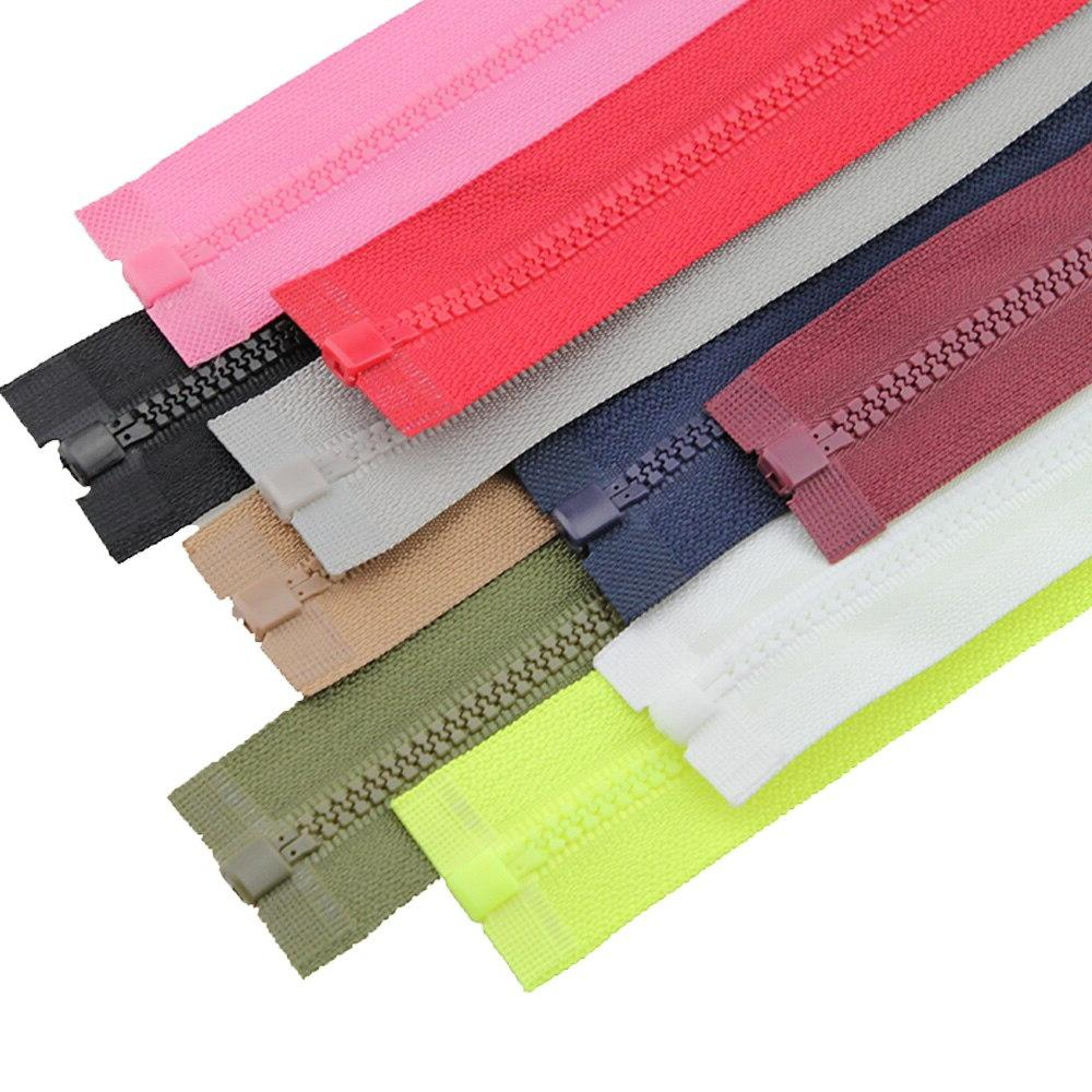 2pcs/lot 50cm No.3 resin open end zippers kids clothing zips clothes for sewing accessories