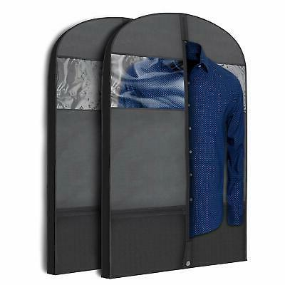 2x 43 gusseted garment bags travel clothing