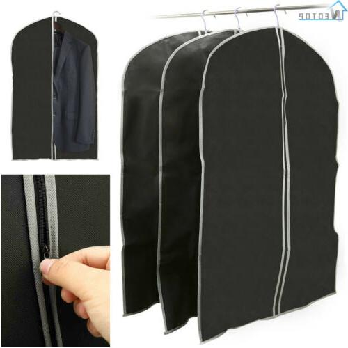 3 Pack Garment Bag Carry Dust Cover Men Women Suit Dress Lea