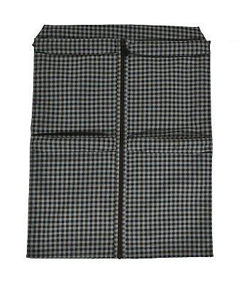 3 authentic grey cotton garment bag packing