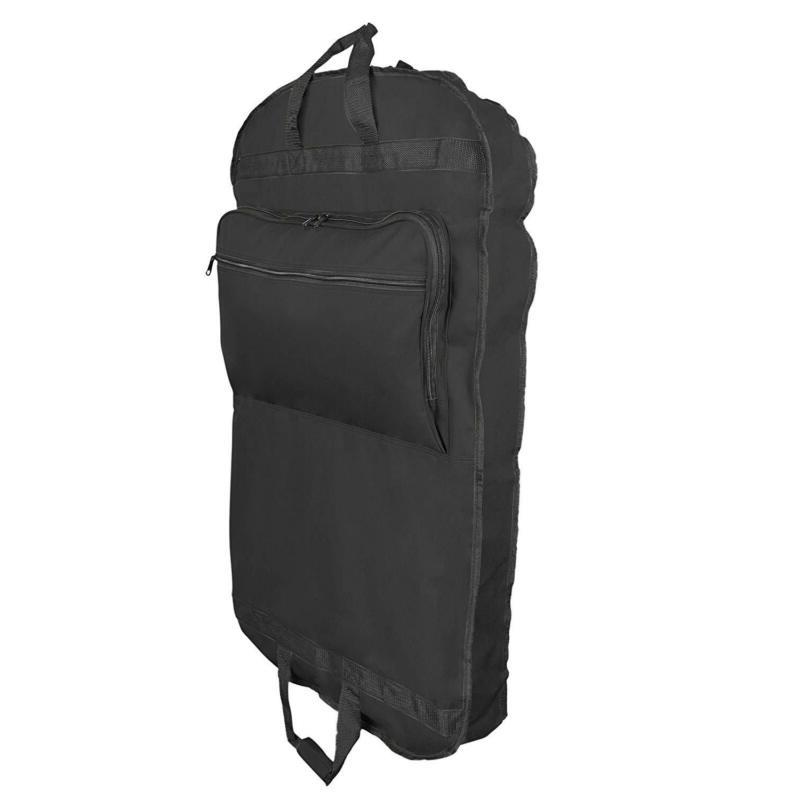 "39"" Black Garment Travel Bag Foldable With Velcro Fastener A"