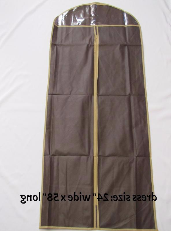3pcs for Coat,w/Transparent Window,Brown,NEW