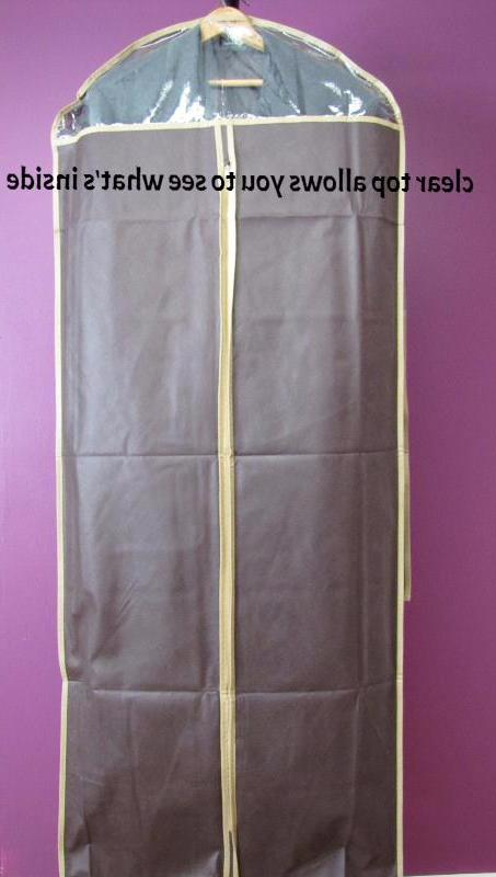 "3pcs Garment Bags 58"" for Dress/Gown/Long Coat,w/Transparent"