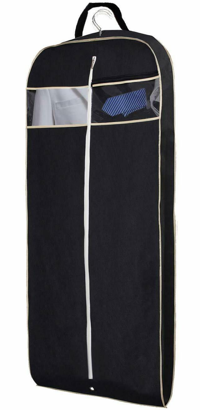 """43"""" Gusseted Travel Garment Bag with Accessories Zipper Pock"""