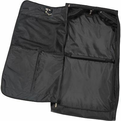 WallyBags Framed Garment Bag with Shoulder and