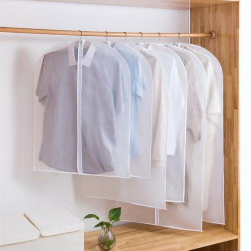 5 10x clear suit cover hanging garment